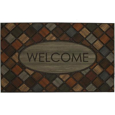 Welcome Marquetry 18 in. x 30 in. Doorscapes Mat