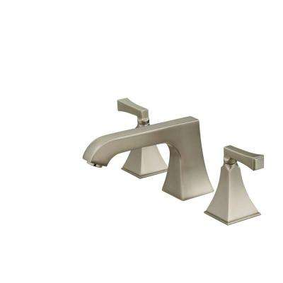 Memoirs 2-Handle Deck-Mount Roman Tub Faucet Trim Only in Vibrant Brushed Nickel (Valve Not Included)