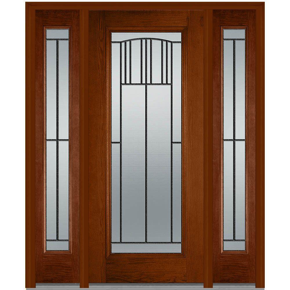 wooden exterior doors. 36 in  x 80 Madison Right Hand Full Lite Classic Stained Front Doors Exterior The Home Depot