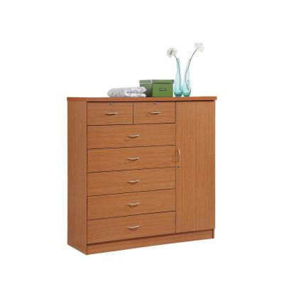 7-Drawer Cherry Chest of Drawers with Door