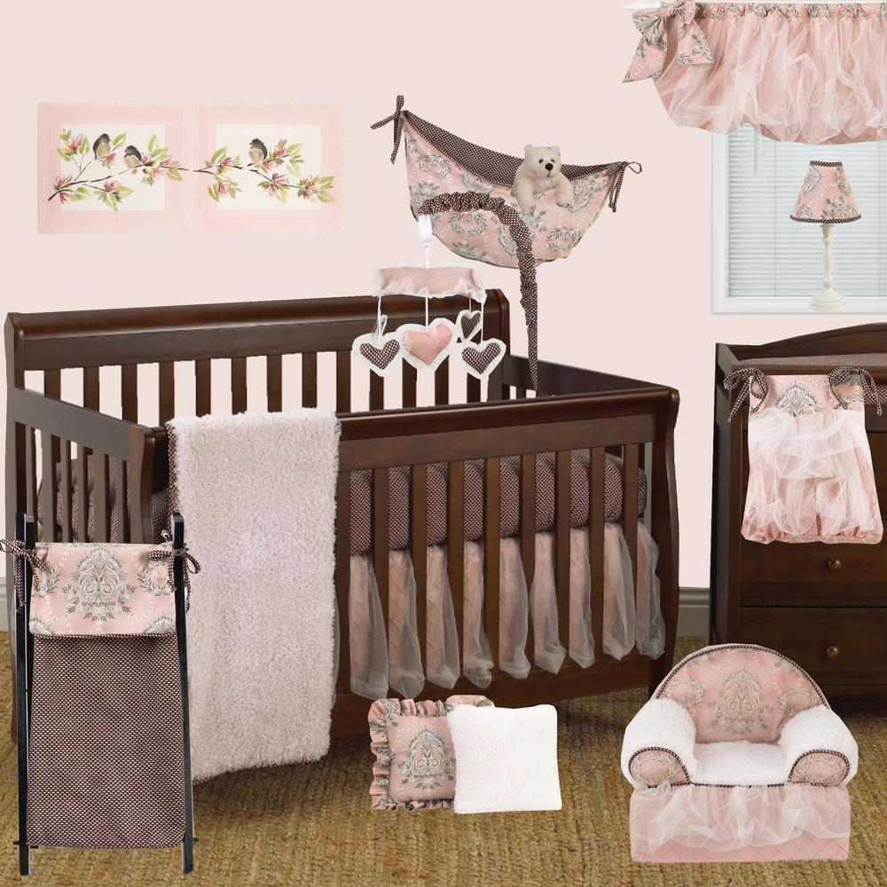 Cotton Tale Designs Nightingale Pink Floral Cotton Kid's Foam Chair