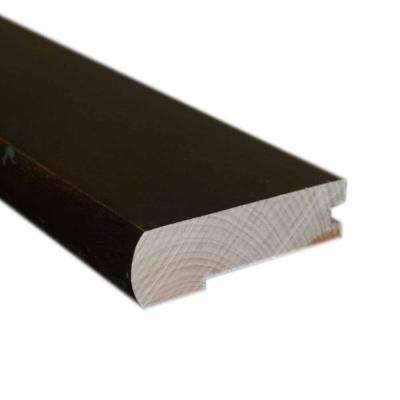 2.75 in. Wide x 78 in. Length Hand Scrape Maple Chocolate Solid Flush-Mount Stair Nose Molding