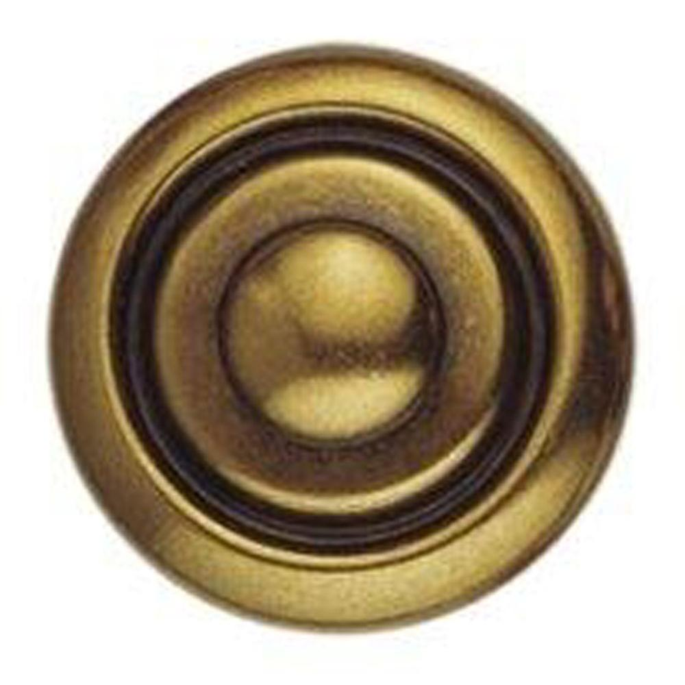 1800 Circa 0.98 in. Antique Brass Distressed Knob