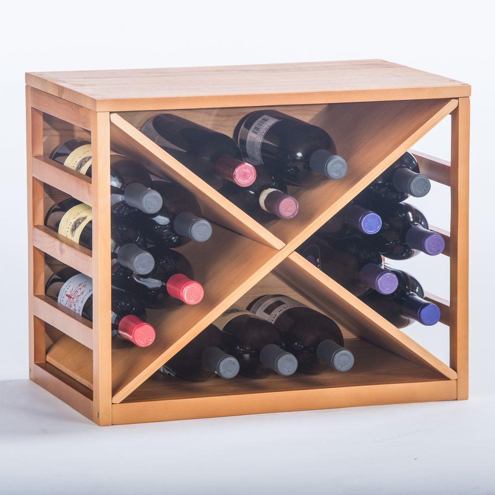 Elegant Home Fashions Newport Oak Wine X-Cage