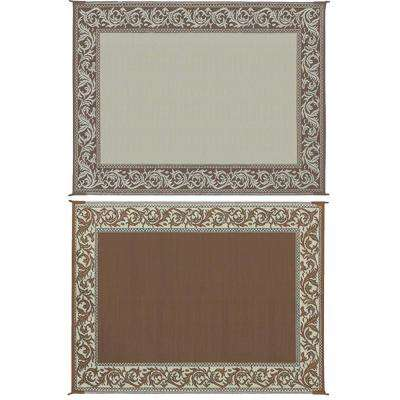 8 ft. x 20 ft. Classical Brown/Beige Reversible Mat