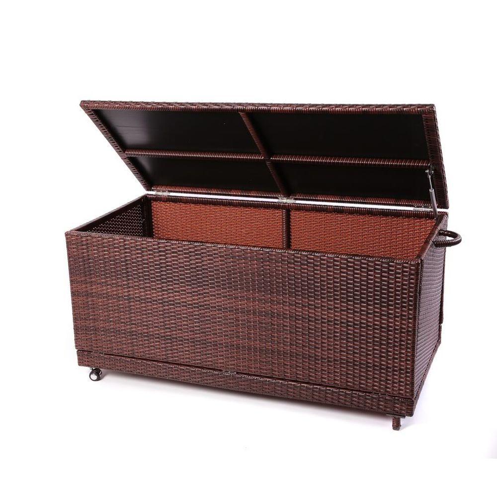 RST Brands Espresso Rattan Deck Box