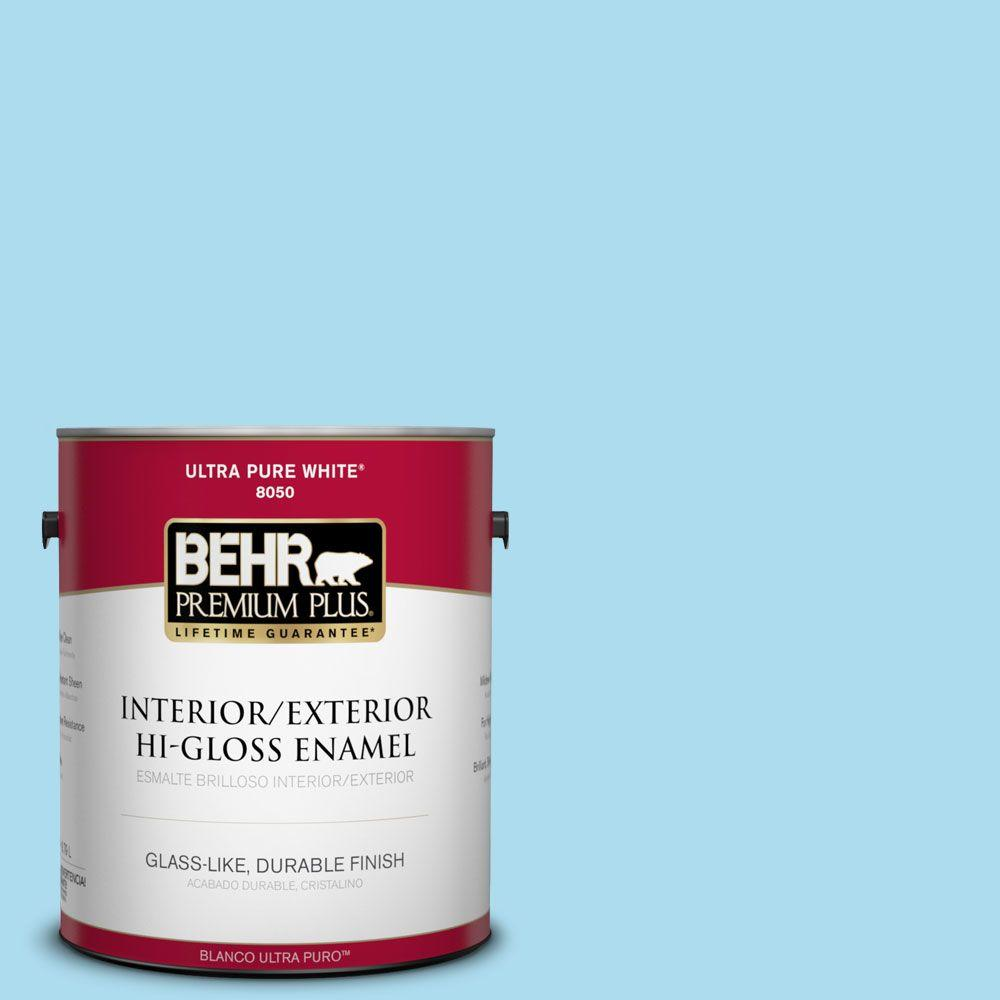 BEHR Premium Plus 1-gal. #530A-3 Frosty Glade Hi-Gloss Enamel Interior/Exterior Paint