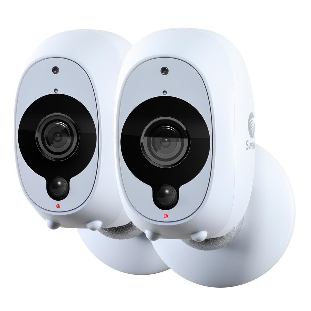 Smart Security Camera-Battery Powered Wireless 1080p Full HD Surveillance Video Camera (2-Pack)