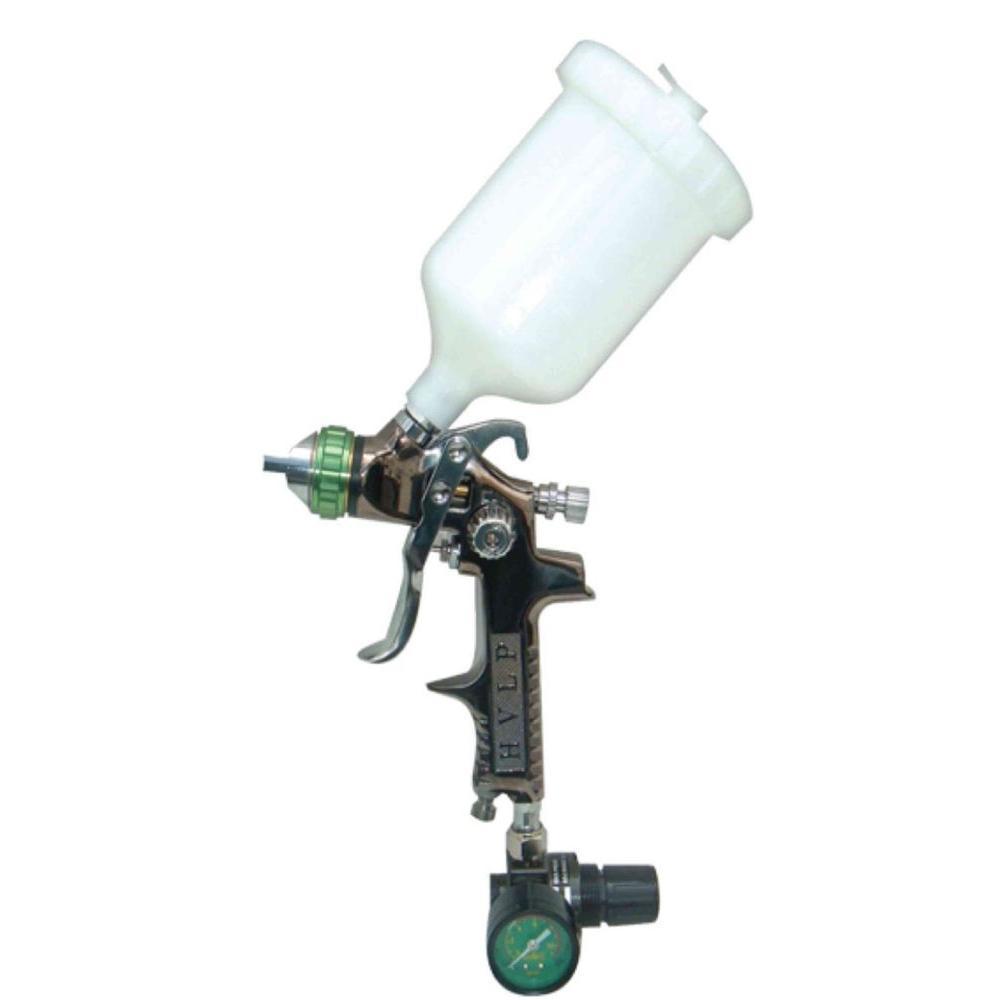 HVLP Gravity Feed Spray Gun with Air Regulator