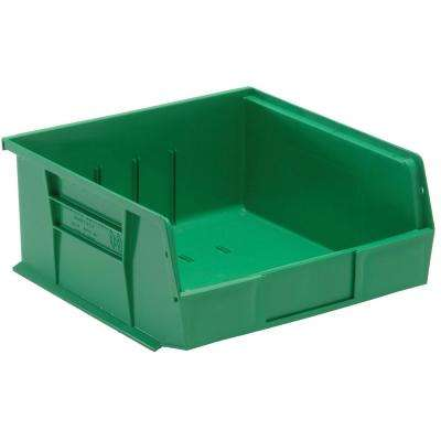Ultra Series Stack and Hang 6 Gal. Storage Bin in Green (6-Pack)