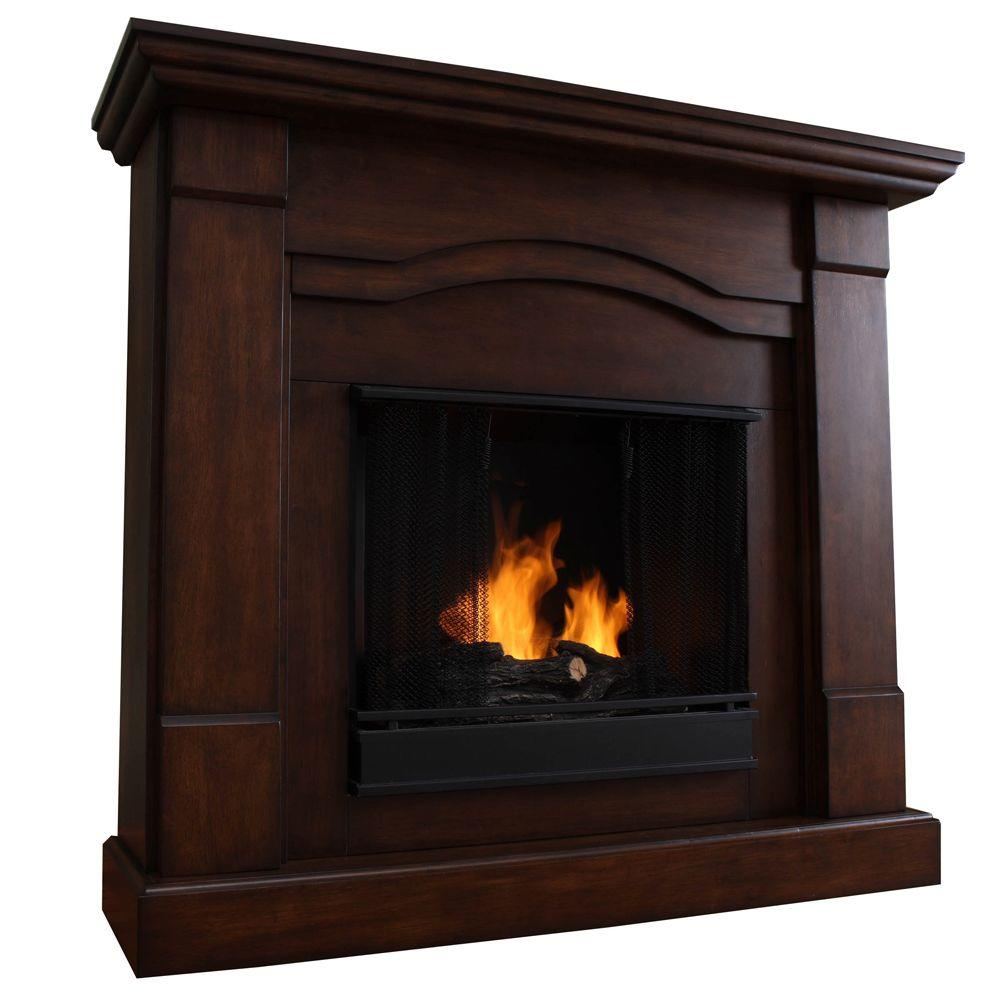 Real Flame Frisco 47 in. Gel Fuel Fireplace in Espresso-DISCONTINUED