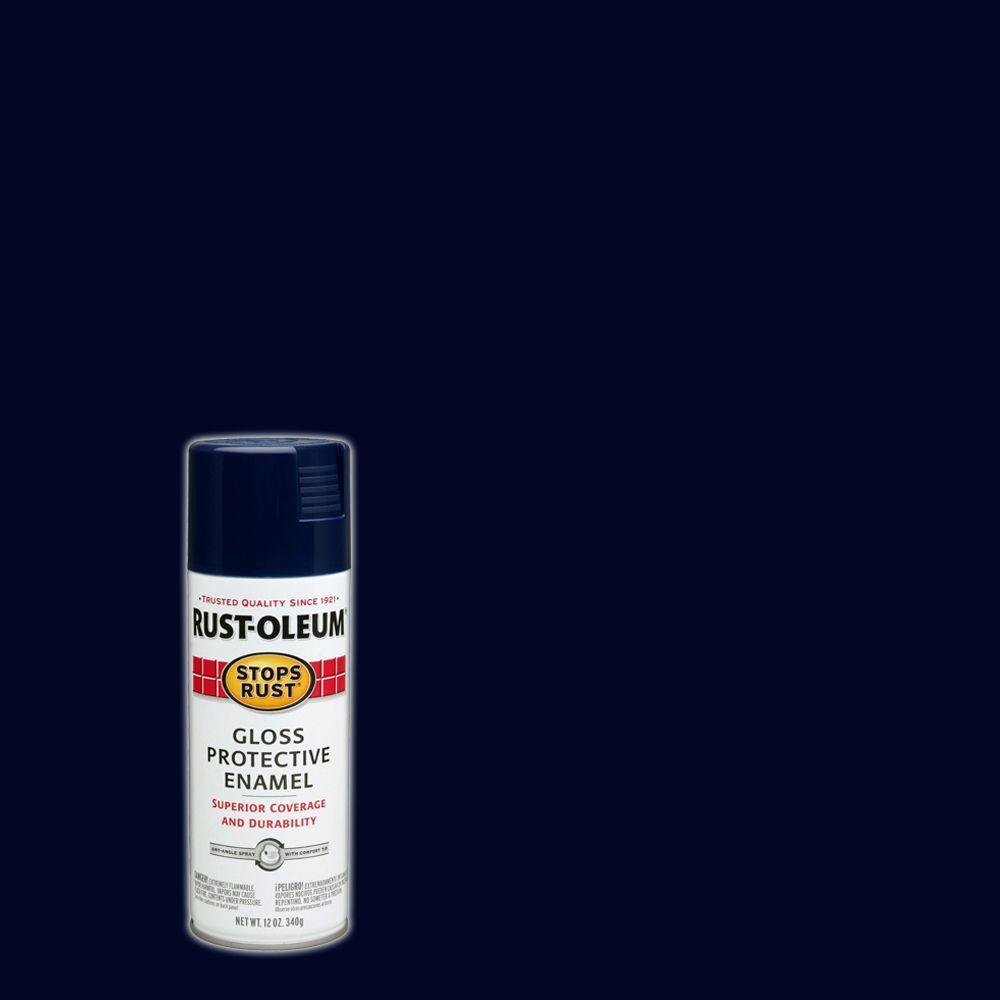 Rust-Oleum Stops Rust 12 oz  Protective Enamel Gloss Navy Blue Spray Paint