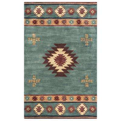 Southwest Blue Grey 9 Ft X 12 Area Rug