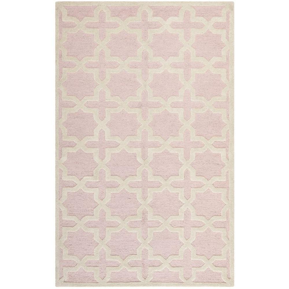 Safavieh Cambridge Light Pink/Ivory 5 ft. x 8 ft. Area Rug