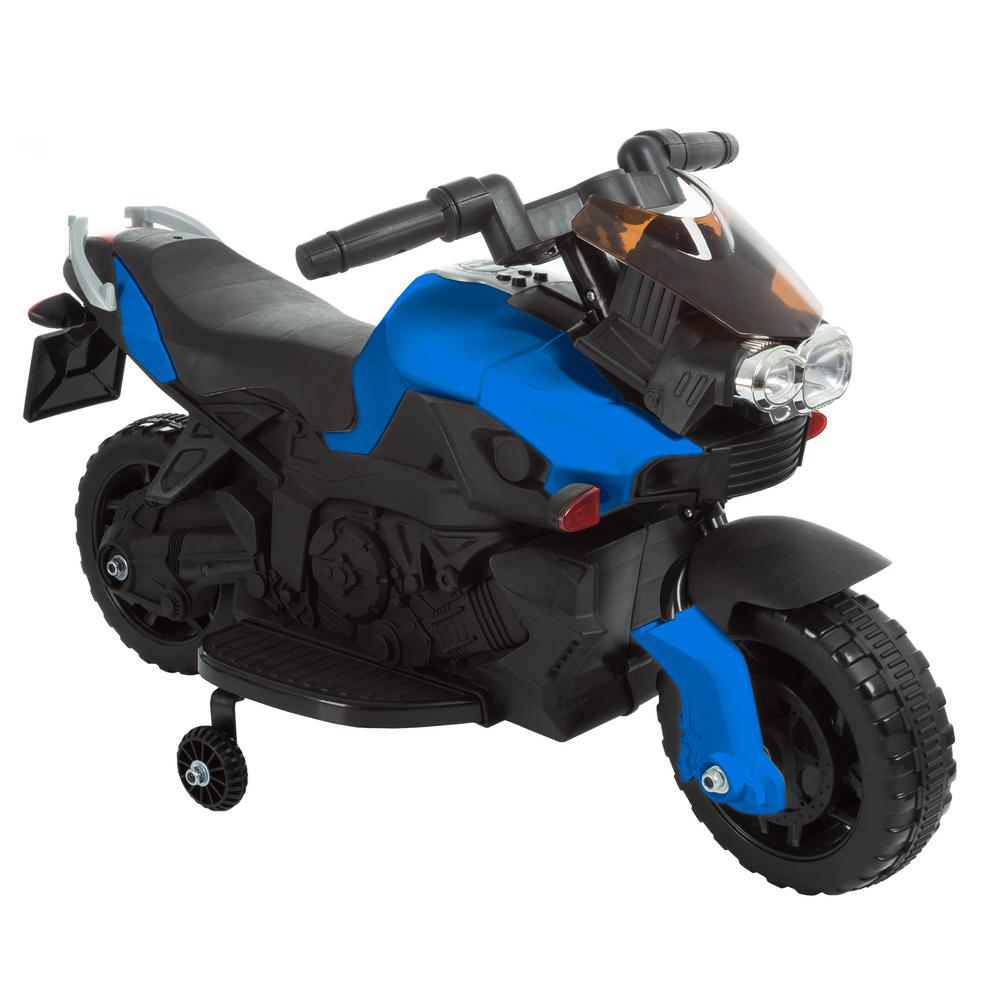feb3595b0bb Lil Rider 2-Wheel Blue Battery Powered Motorcycle Ride on Toy ...