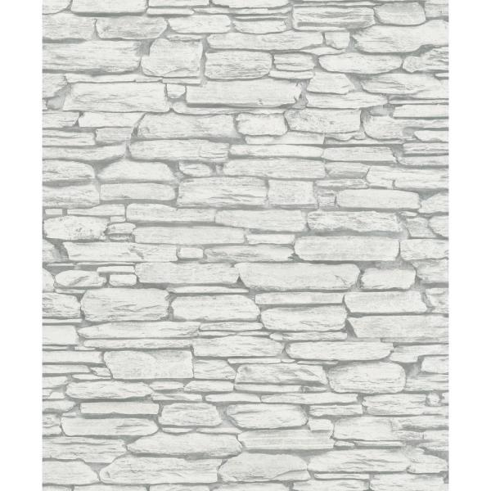 Marburg 56.4 sq. ft. Kamen Light Grey Stone Wallpaper