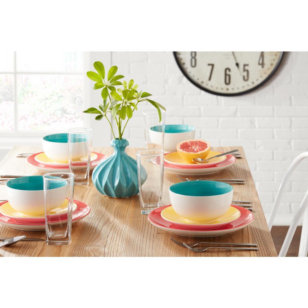 StyleWell 16-Piece Bright Mix & Match Stoneware Dinnerware Set (Service for 4)