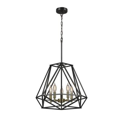 Sansa 5-Light Dark Bronze Chandelier