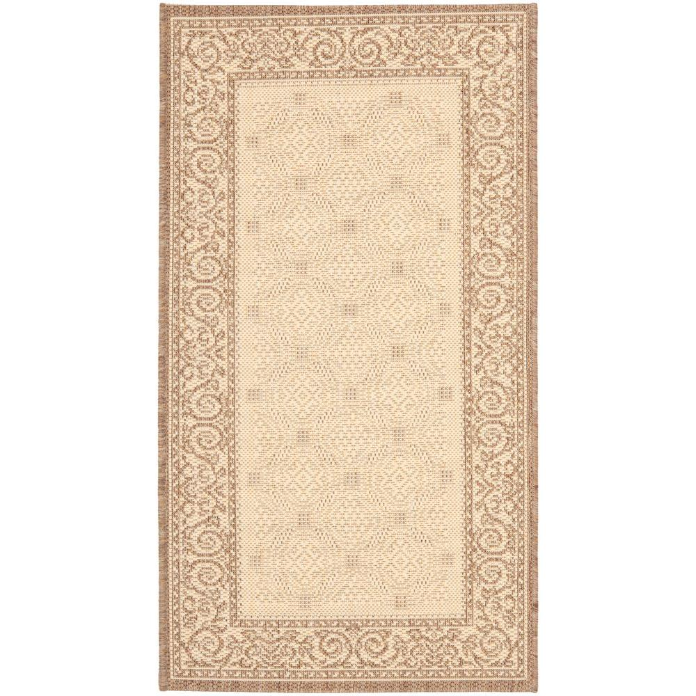 Safavieh Courtyard Natural/Brown 2 ft. x 3 ft. 7 in. Indoor/Outdoor Area Rug