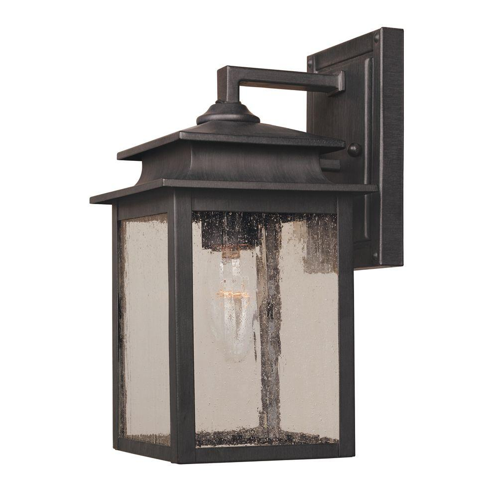 World Imports Sutton Collection 1-Light Rust Outdoor Wall Sconce ...
