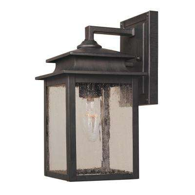 Sutton Collection 1-Light Rust Outdoor Wall Sconce