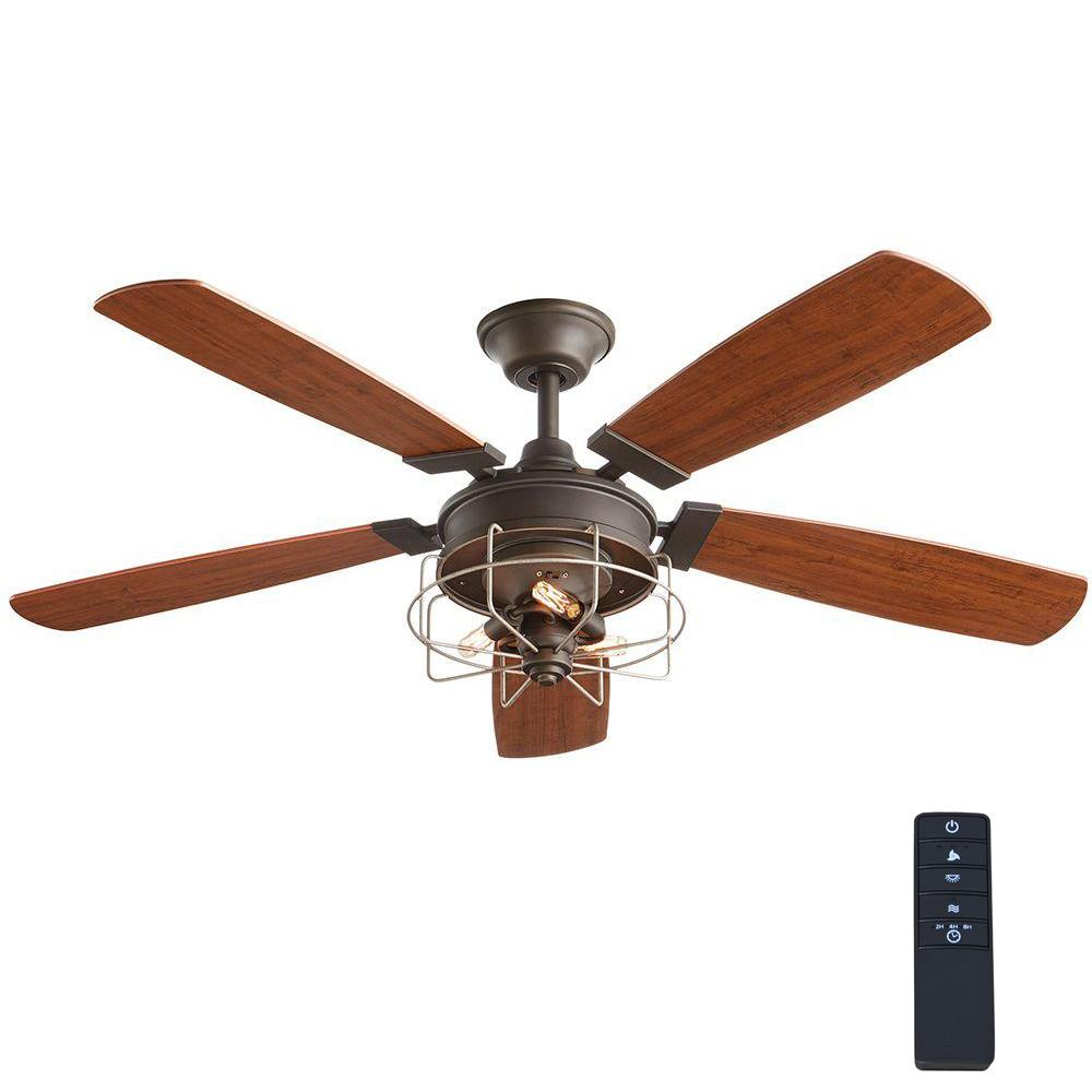 Home Decorators Collection Toledo 52 In. Oil Rubbed Bronze Ceiling Fan