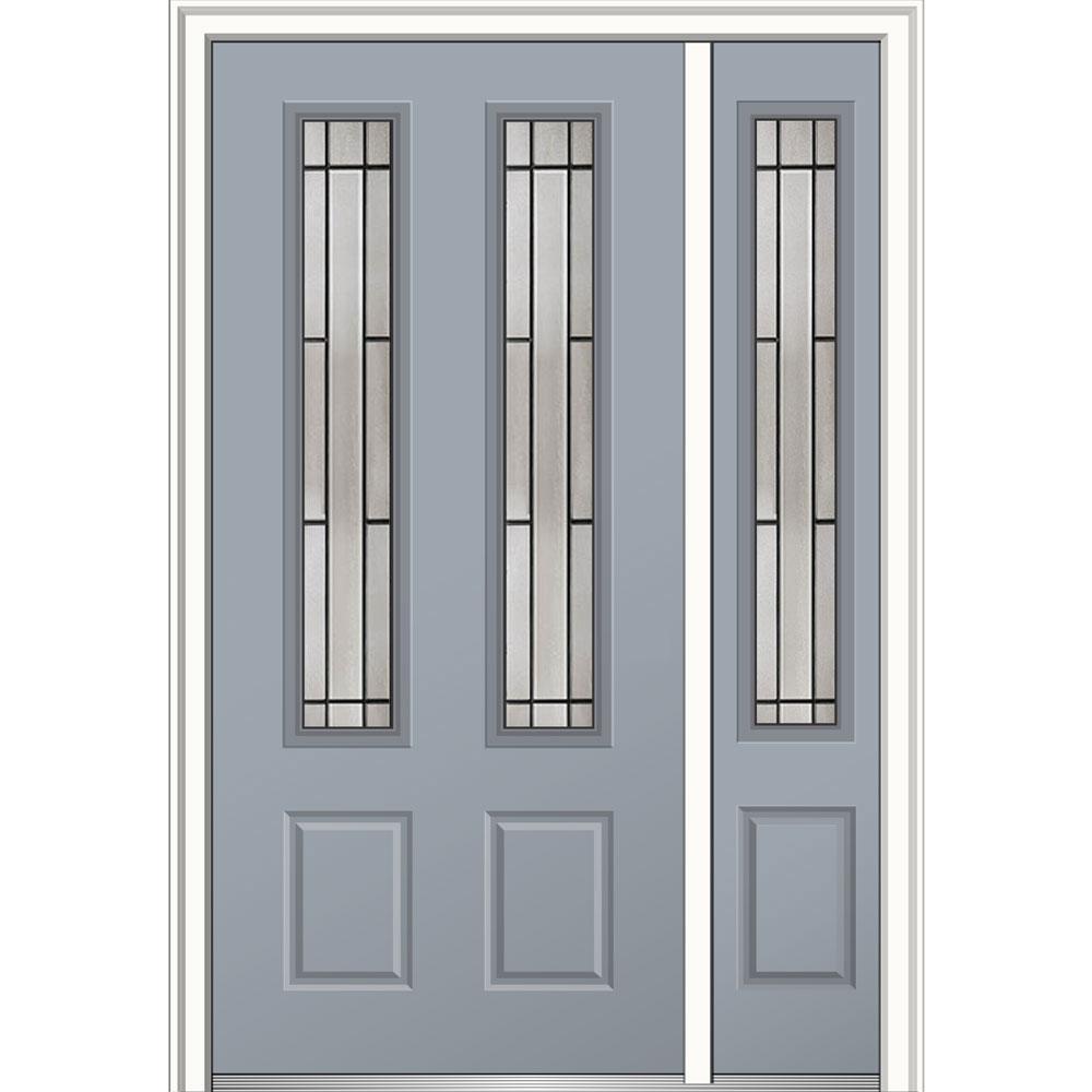 Mmi Door 48 In X 80 In Solstice Glass Right Hand 2 3 4 Lite 2 Panel Classic Painted Steel