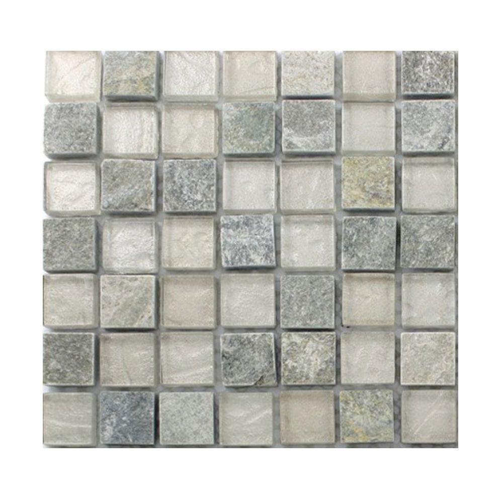Splashback Tile Tectonic Harmony Green Quartz Slate And: Ivy Hill Tile Tectonic Squares Green Quartz Slate And