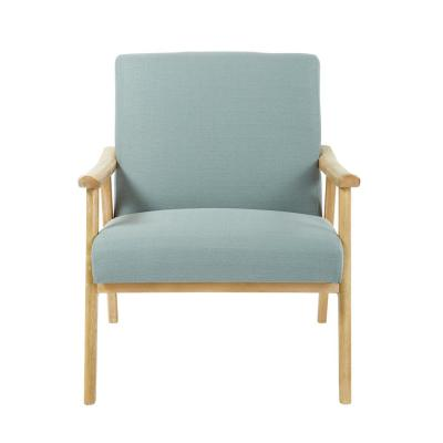 Weldon Klein Sea Fabric Chair with Brushed Frame