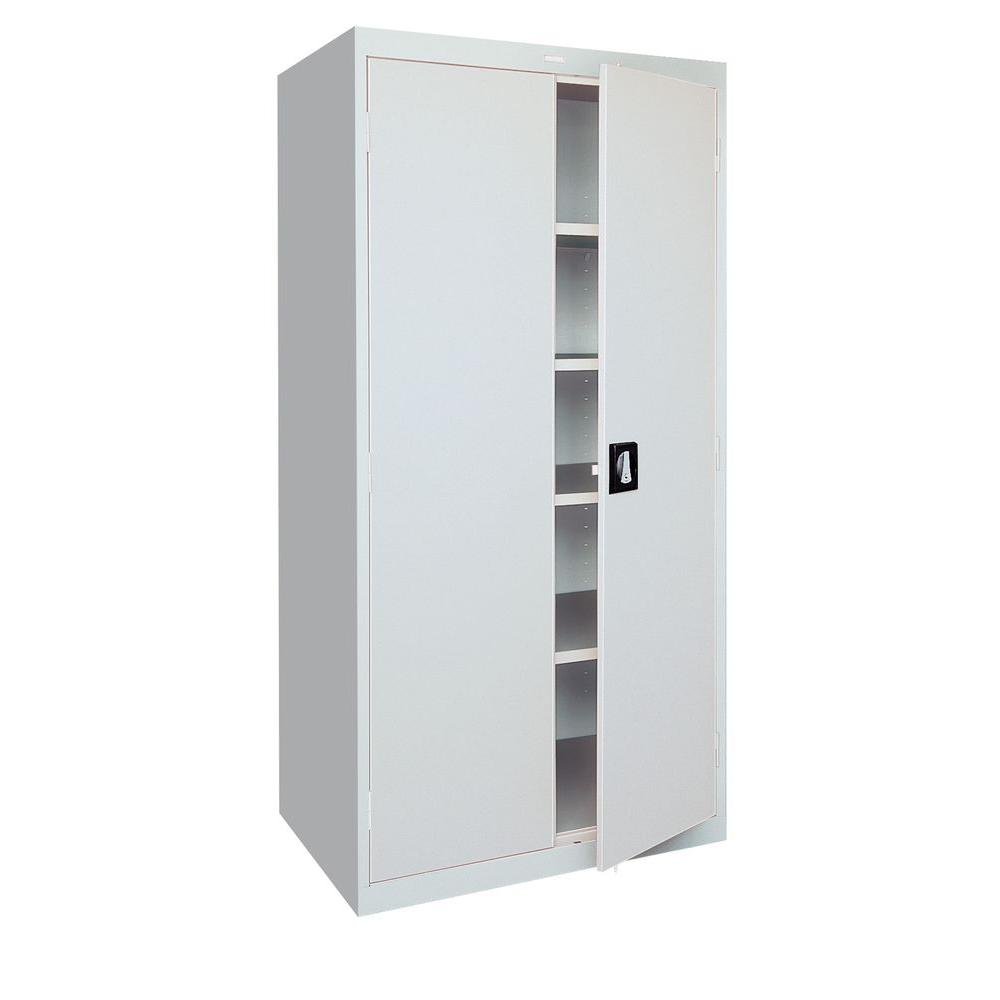 Sandusky Elite Series 72 in. H x 36 in.W x 18 in. D 5-Shelf Steel Freestanding Storage Cabinet in Dove Gray-EA4R361872-05 - The Home Depot  sc 1 st  The Home Depot & Sandusky Elite Series 72 in. H x 36 in.W x 18 in. D 5-Shelf Steel ...