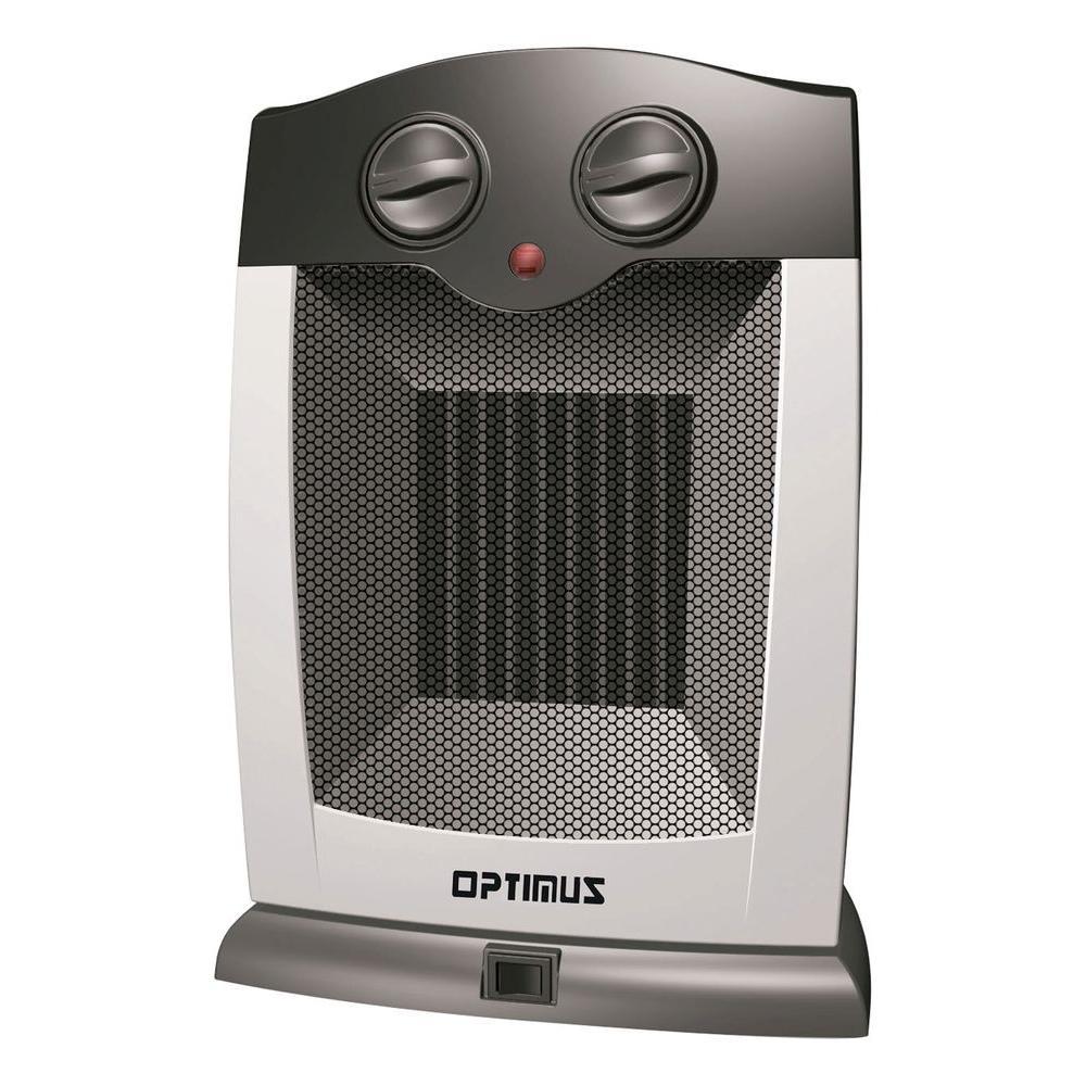 Optimus Portable Oscillating Ceramic Heater with Thermostat