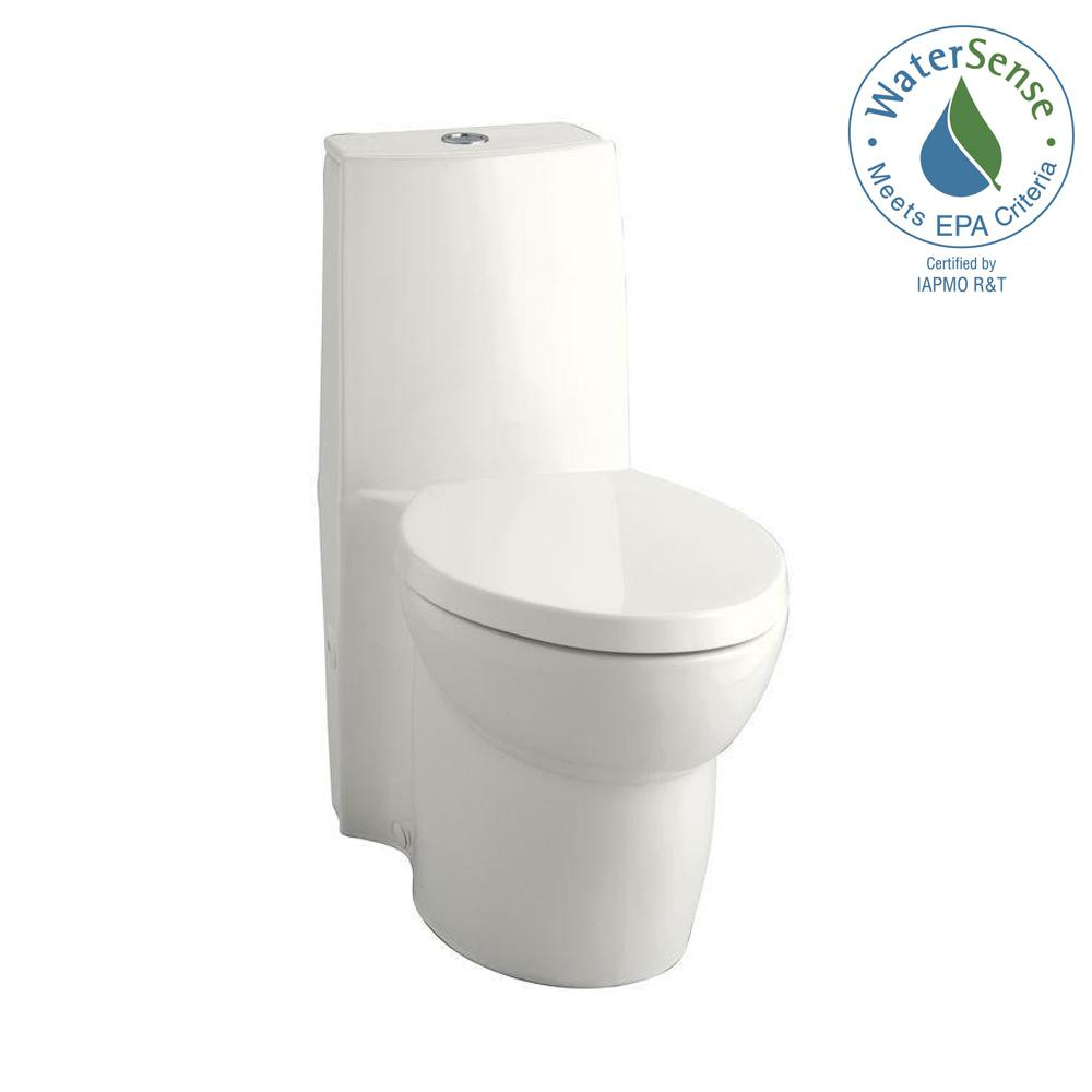 Saile 1-piece 0.8 or 1.6 GPF Dual Flush Elongated Toilet in