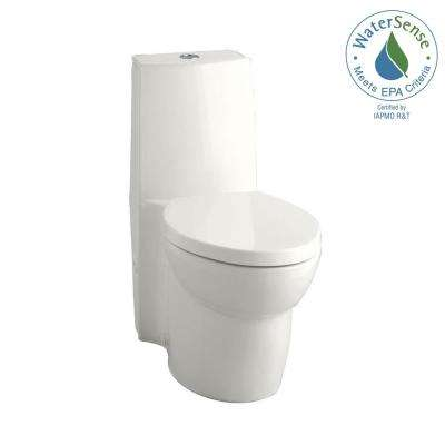 Saile 1-piece 0.8 or 1.6 GPF Dual Flush Elongated Toilet in White