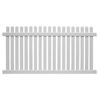 Provincetown 4 ft. H x 8 ft. W White Vinyl Picket Fence Panel Kit