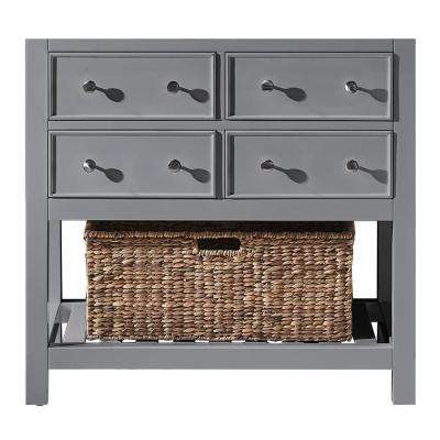 Elodie 35.2 in. W x 21.7 in. D x 33.5 in. H Bath Vanity Cabinet Only in Taupe Grey