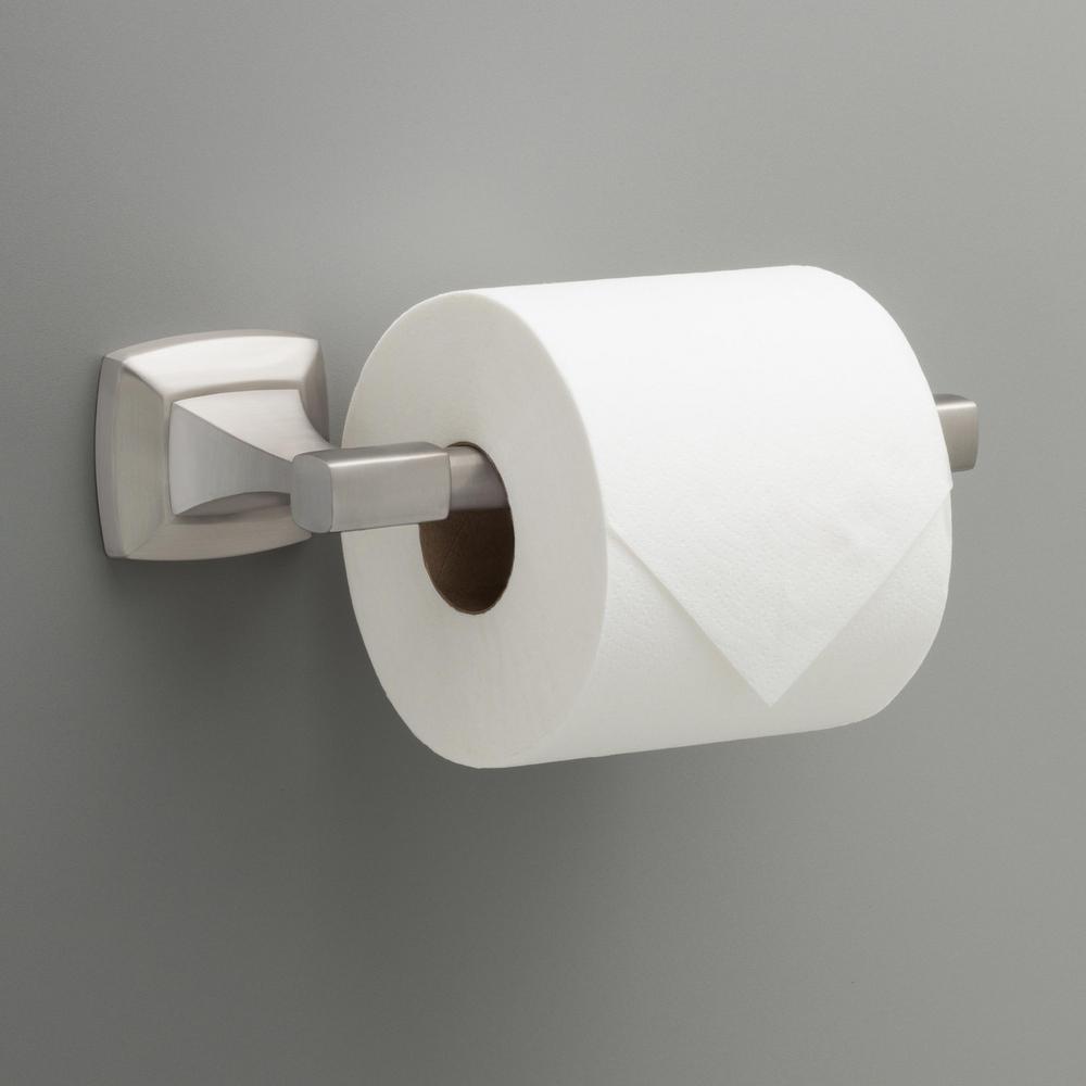 Portwood Pivoting Toilet Paper Holder in SpotShield Brushed Nickel