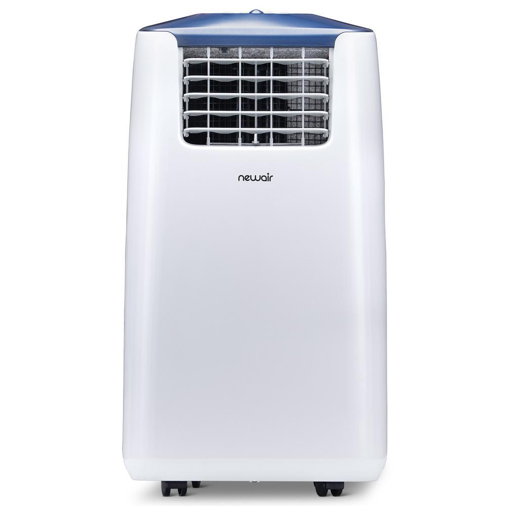 Premium 14,000 BTU (8,600 BTU, DOE) Ultra Compact Portable Air Conditioner and Dehumidifier with Remote Control - White