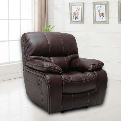 Montebello Faux Chocolate Leather Recliner