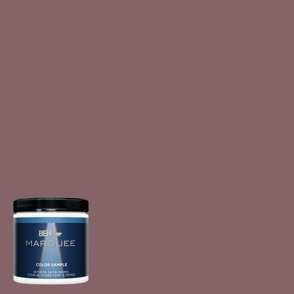 BEHR MARQUEE 8 oz. #130F-6 Brazil Nut Satin Enamel Interior/Exterior Paint and Primer in One Sample
