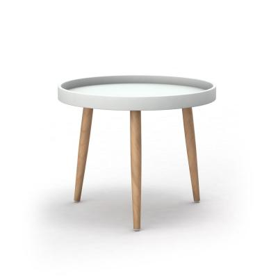 Kurv White/Natural Chat Table