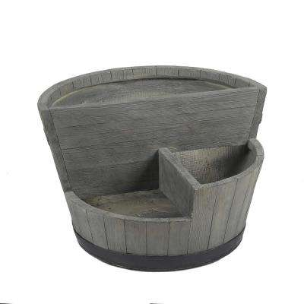 MgO Sectional Barrel-Style Planter