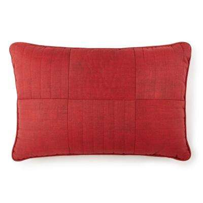 Firefighter Rescue Red Textured Quilted Pillow