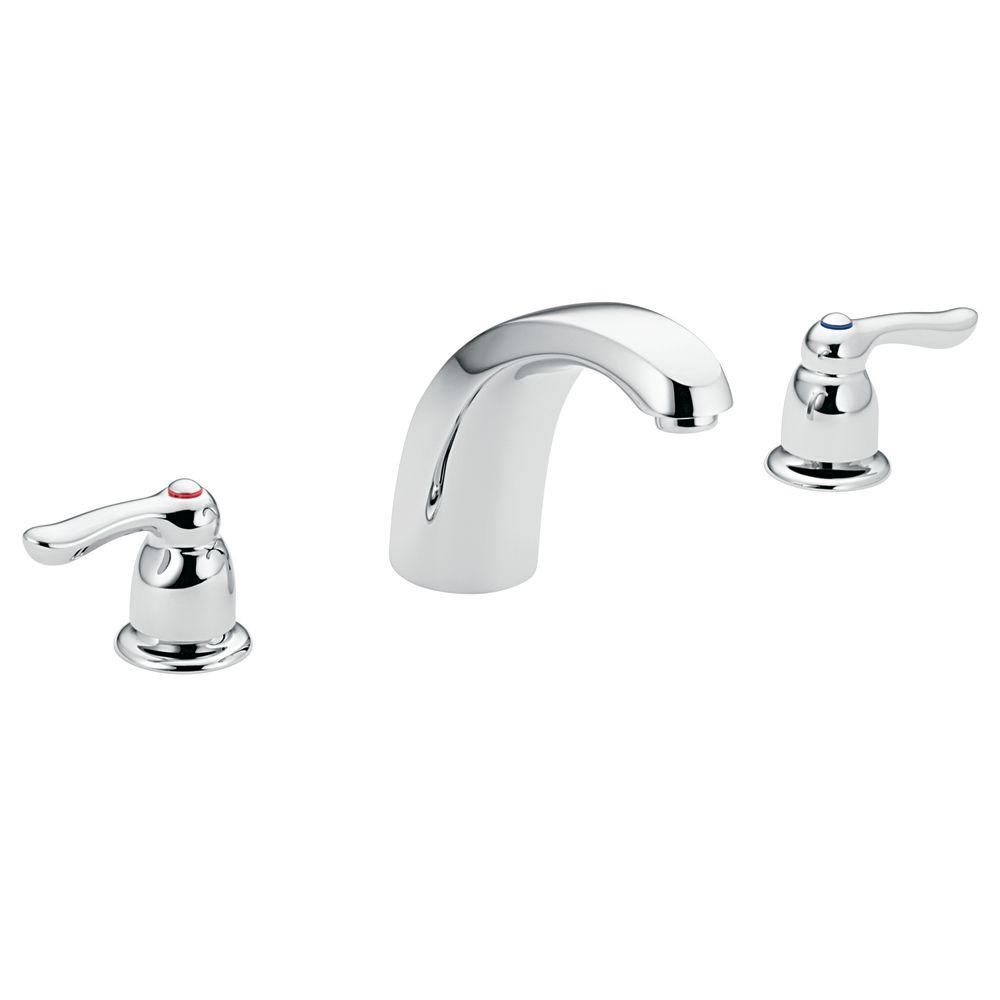 MOEN Chateau 2 Handle Low Arc Roman Tub Trim In Chrome (Valve Sold  Separately