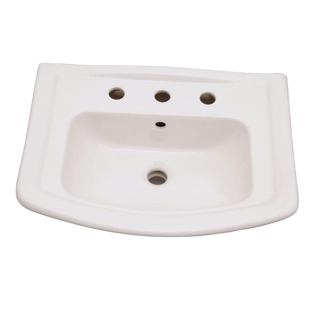 Barclay Products Washington 6 in. Pedestal Sink Basin Only in White