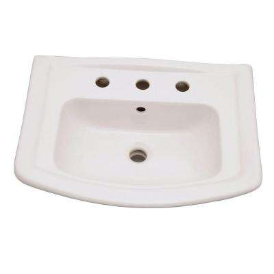 Washington 6 in. Pedestal Sink Basin Only in White