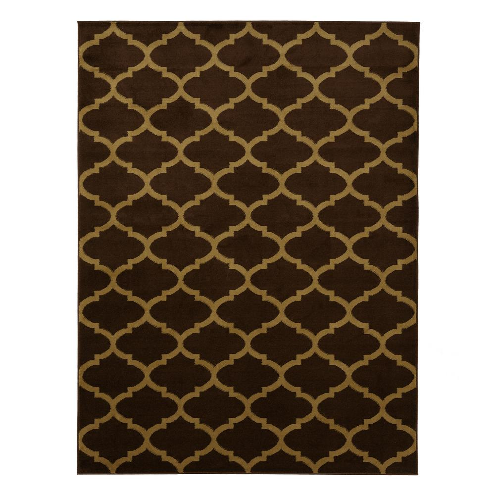 Contemporary Moroccan Trellis Brown 5 ft. x 7 ft. Area Rug