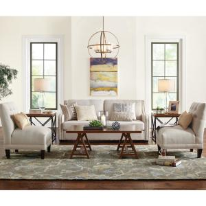 Attrayant +6. HomeSullivan Sloane 1 Piece Off White Linen Sofa