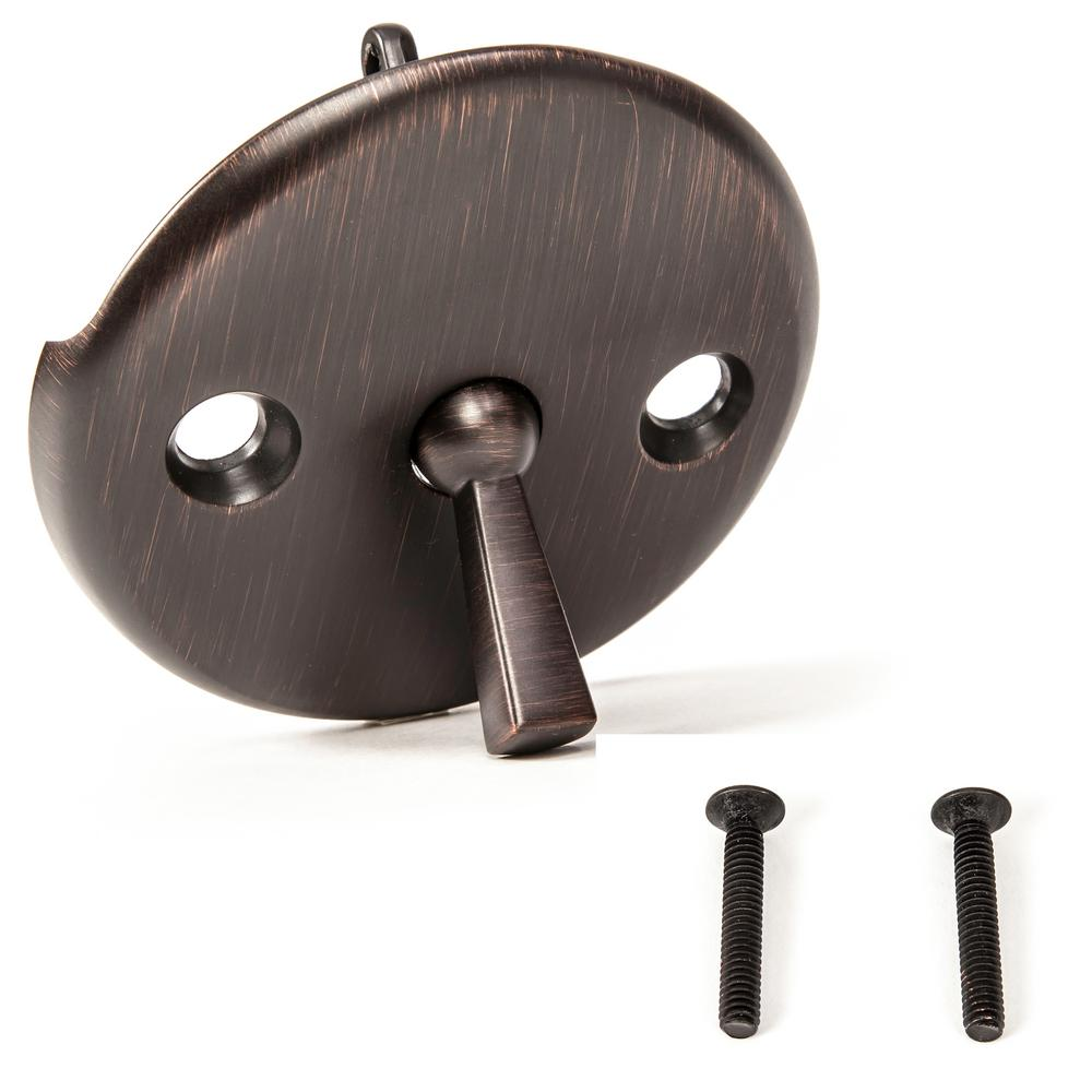 Trip Lever Bath Tub Drain Kit Overflow Bath And Oil Rubbed Polished Brass Bronze