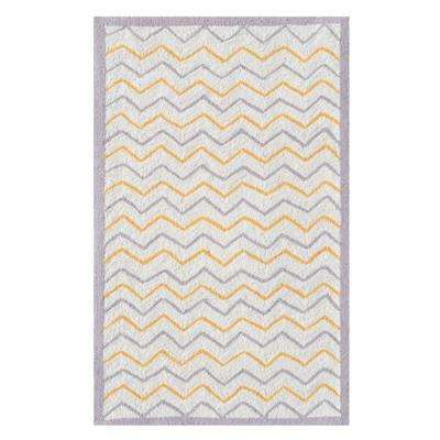 Ziggy-Zaggy Gray 3 ft. x 5 ft. Indoor Area Rug
