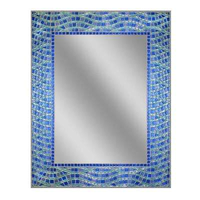 24 in. x 30 in. Frameless Single Blue Ocean Mirror
